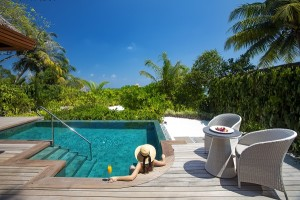 Baros Suites Deck with pool and jacuzzi